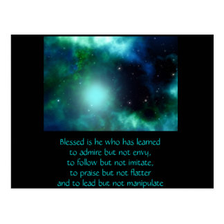 Blessed is he Quote Post Card