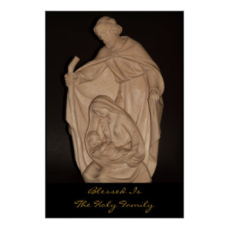 blessed is the holy family poster