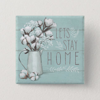 Blessed IV Mint | Lets Stay Home 15 Cm Square Badge