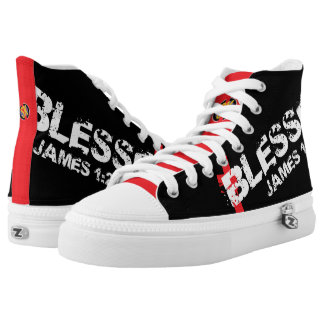 """+ """"Blessed"""" LT SkriptureKicks Printed Shoes #2240"""
