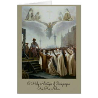 Blessed Martyrs Carmelite Nuns Compiegne Card