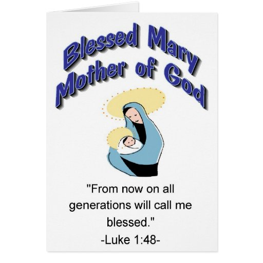 Blessed Mary Mother of God card