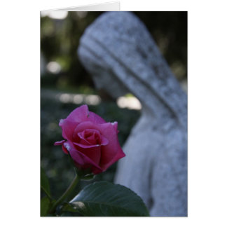 Blessed Mary & the Rose Card