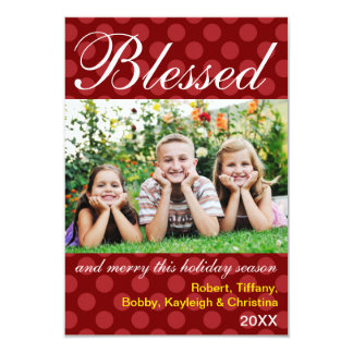 Blessed & Merry Photo - 3x5 Christmas Card