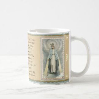 Blessed Mother |Grace| Memorare Prayer Coffee Mug