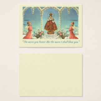 Blessed Mother holding the Child Jesus Globe Business Card