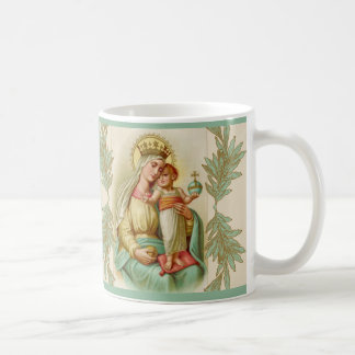 Blessed Mother holding the Child Jesus Globe Coffee Mug