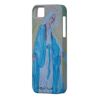 Blessed Mother iPhone 5 Cases