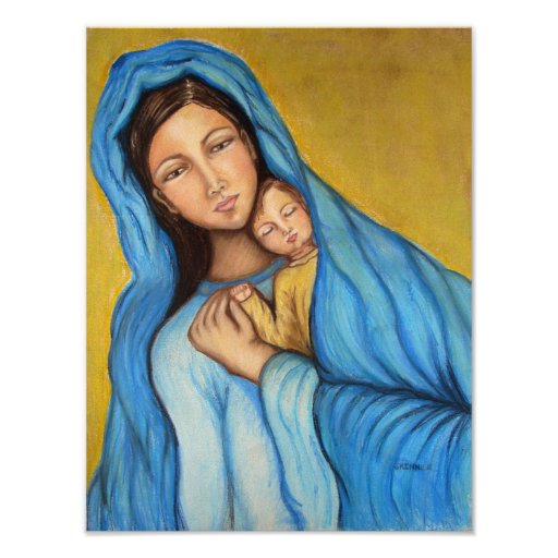 Blessed Mother Print