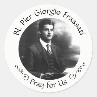 Blessed Pier Giorgio Frassati Classic Round Sticker