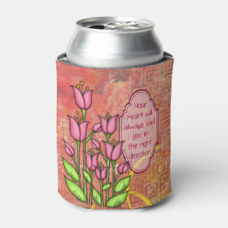 Blessed Positive Thought Doodle Flower Can Cooler