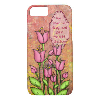 Blessed Positive Thought Doodle Flower iPhone 7 Ca iPhone 8/7 Case