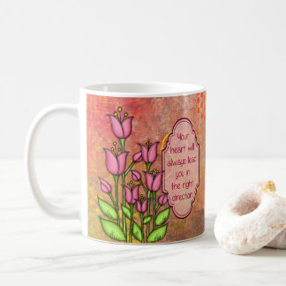 Blessed Positive Thought Doodle Flower Mug