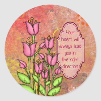 Blessed Positive Thought Doodle Flower Sticker