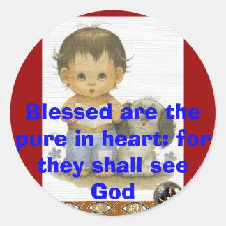 Blessed Round Sticker