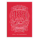 Blessed Season Lettering Holiday Christmas Card 13 Cm X 18 Cm Invitation Card