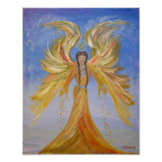 Blessed Seraphim Mother Angel Poster