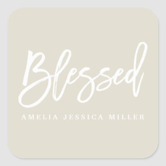 BLESSED SQUARE STICKER