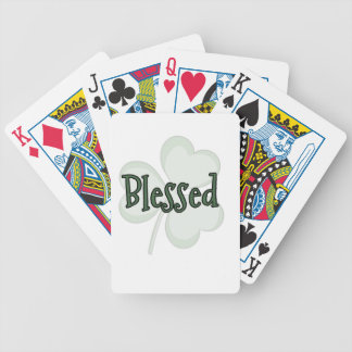 Blessed St. Patrick's Day Design Bicycle Playing Cards