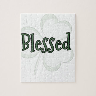 Blessed St. Patrick's Day Design Jigsaw Puzzle