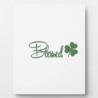 Blessed St. Patrick's Day Design ☘ Plaque