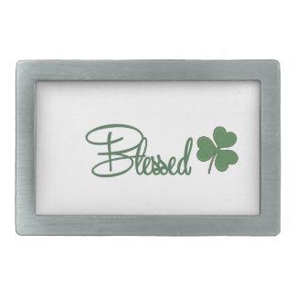 Blessed St. Patrick's Day Design ☘ Rectangular Belt Buckle