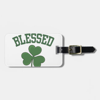 BLESSED Varcity Design Luggage Tag