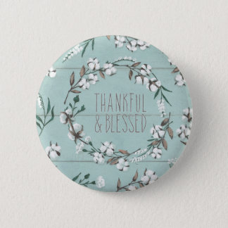 Blessed VI Mint | Thankful & Blessed 6 Cm Round Badge