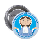 Blessed Virgin Mary 6 Cm Round Badge