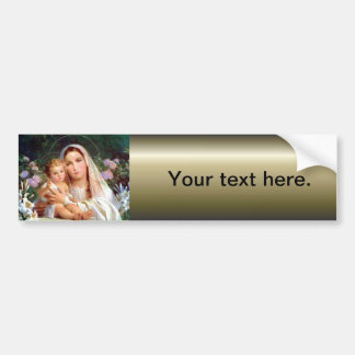 Blessed Virgin Mary and Infant Child Jesus Bumper Sticker