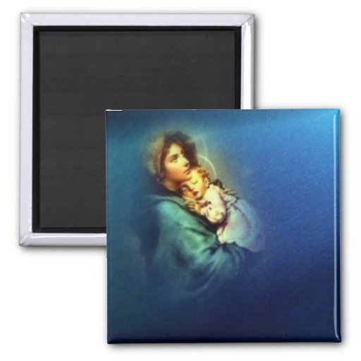 Blessed Virgin Mary and Infant Child Jesus Magnets