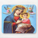 Blessed Virgin Mary and Infant Child Jesus Mousepad