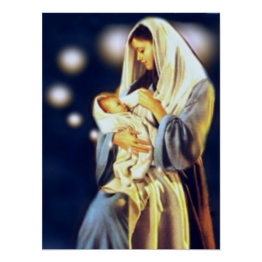 Blessed Virgin Mary and Infant Child Jesus Posters