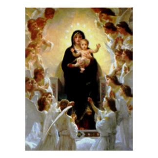 Blessed Virgin Mary and Infant Child Jesus Poster