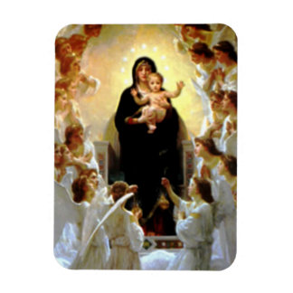 Blessed Virgin Mary and Infant Child Jesus Rectangular Photo Magnet