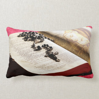 Blessed Virgin Mary Bible Rosary Lumbar Cushion