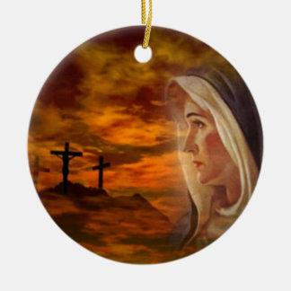 Blessed Virgin Mary Calvary Ornament