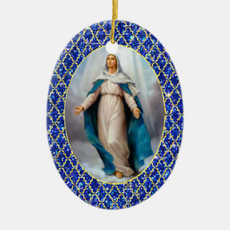 Blessed Virgin Mary Ceramic Ornament