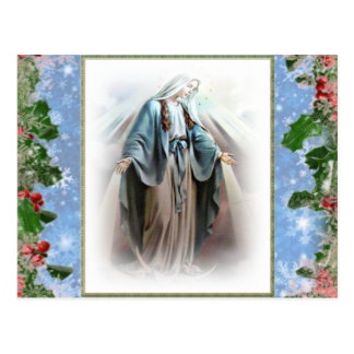 Blessed Virgin Mary Christmas postcards