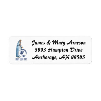 Blessed Virgin Mary Fatima Our Hope Return Address Label