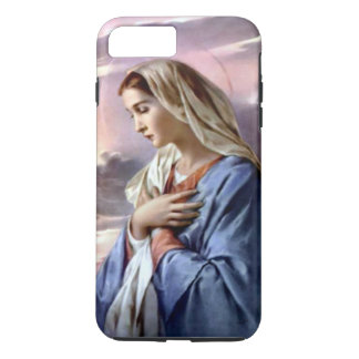 Blessed Virgin Mary Folded Hands in Prayer iPhone 7 Plus Case
