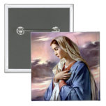 Blessed Virgin Mary - Mother of God 15 Cm Square Badge