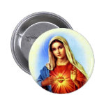 Blessed Virgin Mary - Mother of God 6 Cm Round Badge