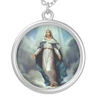 Blessed Virgin Mary - Mother of God Silver Plated Necklace