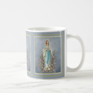 Blessed Virgin Mary of the Rosary w/roses Coffee Mug