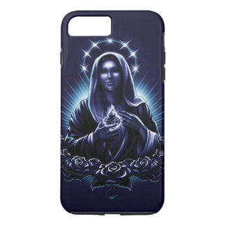 Blessed Virgin Mary - Purple Madonna and Roses iPhone 7 Plus Case