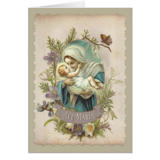 Blessed Virgin Mary with Baby Jesus Card