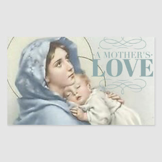 Blessed Virgin Mary with Baby Jesus Rectangular Sticker