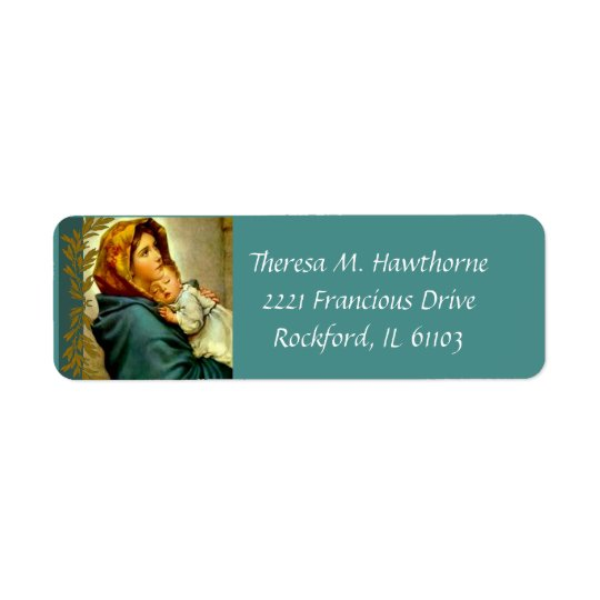 Blessed Virgin Mary with Baby Jesus Return Address Label