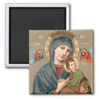 Blessed Virgin Mary with Child Jesus Icon Magnet